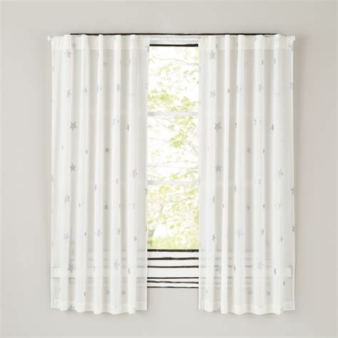 White Nursery Curtains Curtains Curtain Hardware The Land Of Nod