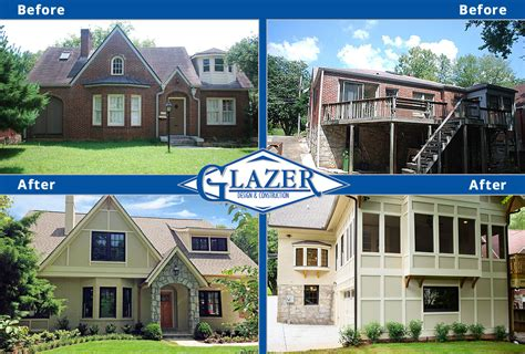 before and after homes home renovation before and after glazer construction atlanta