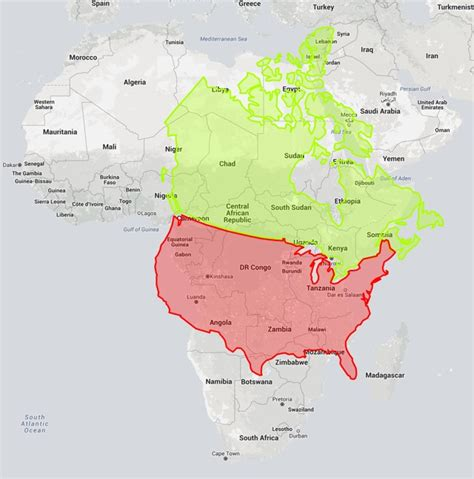 the true size of things on world maps