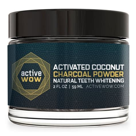teeth whitening whitener active wow charcoal powder