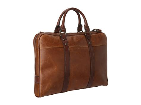 Fossil Satchrl Perfo Cognac fossil estate document bag cognac bags shipped free at zappos