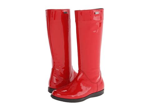 rubber boot clearance dolce gabbana tall rubber boot big kid red 6pm