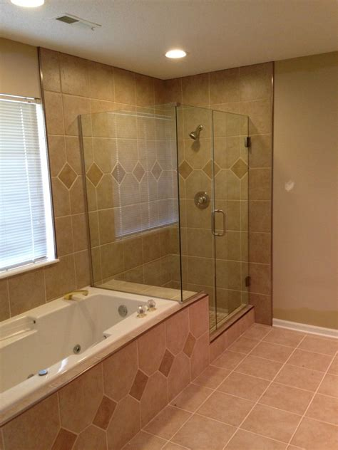 Bathroom Tile Shower Pictures Custom Shower With Clear Glass Frame Less Shower Door Columbia Missouri Bathroom Remodel Tile