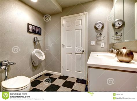urinal bathroom white bathroom with toilet and urinal stock photo image