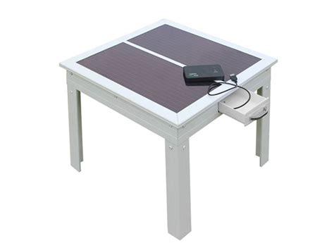 Patio Table White by Savana Solar Patio Table White
