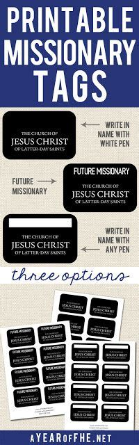 printable missionary tags free printable missionary name tags in 3 styles