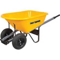 wheelbarrows at home depot true temper 6 cu ft poly wheelbarrow with dual wheels