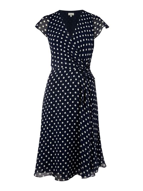 Dress Navy Polkadot linea polka dot dress in black navy lyst