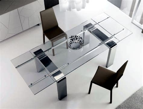 glass top esszimmertisch contemporary dining table made of wood glass and metal