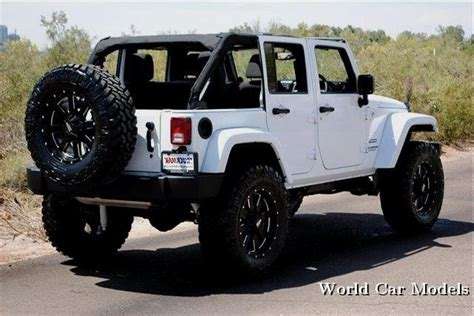 white jeep black rims lifted lifted white jeep wrangler unlimited car models