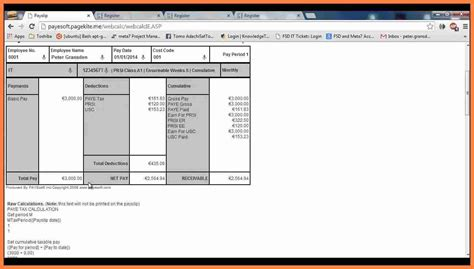 9 excel payslip template uk salary slip