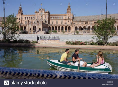 boat ride seville tourists boat around seville s plaza de espana the
