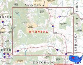 Map Of Wyoming State by Wyoming Maps