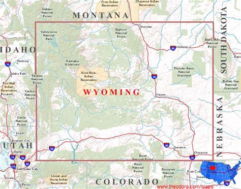 free printable wyoming road map wyoming maps