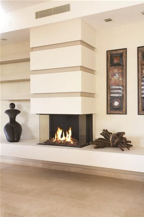 3 sided gas fireplace unique and room divider
