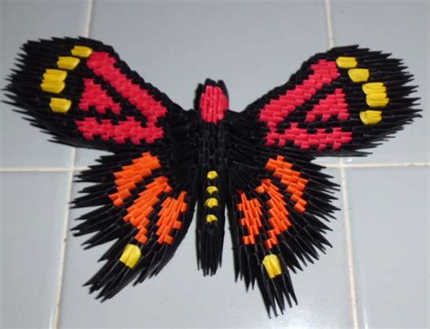 Origami 3d Butterfly - 3d origami monarch butterfly by dfoosdc on deviantart