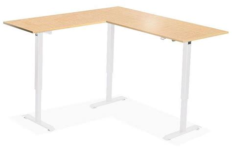 L Shaped Standing Desk Shop Uplift 950 Height Adjustable L Shaped Standing Desk