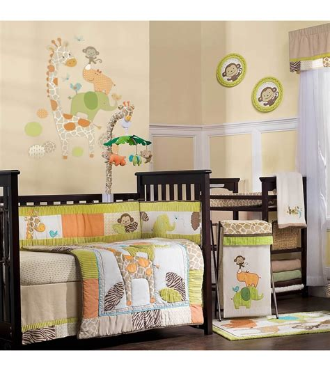 carter s wildlife 4 piece crib bedding set