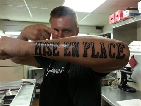 mise en place tattoo chef mise en place and en place on