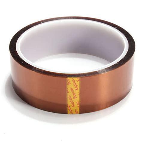 Lakban Isolasi High Temperature Thermal Kapton Sale 30mm X 100ft Kapton Gold High Temperature Heat Resistant Polyimide