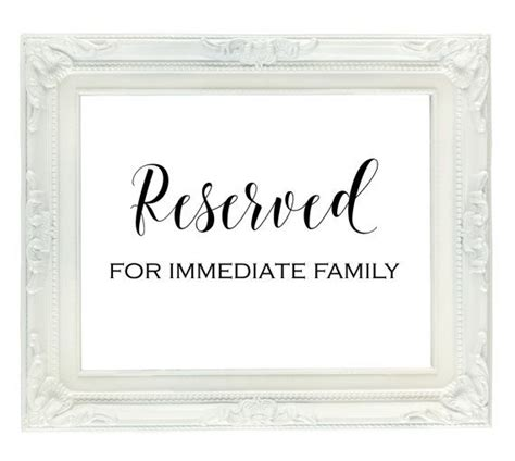 Reserved Seating Card Template Ceremony by Best 25 Reserved Seating Ideas On Reserved