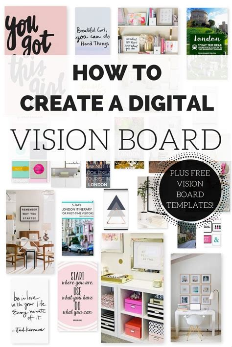 vision board template best 25 vision board template ideas on