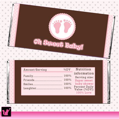 baby shower hershey bar wrappers printable baby shower sweet baby bar wrapper by