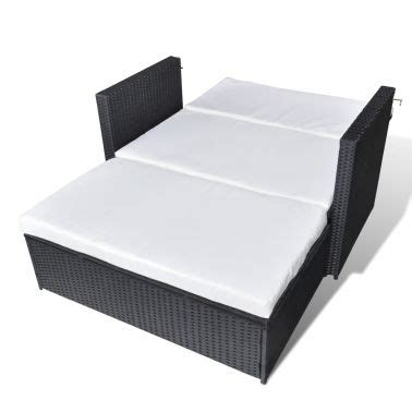 Vidaxl 3 In 1 Sofabed Set Folding Rattan Sofa Bed Wicker Sofa Beds
