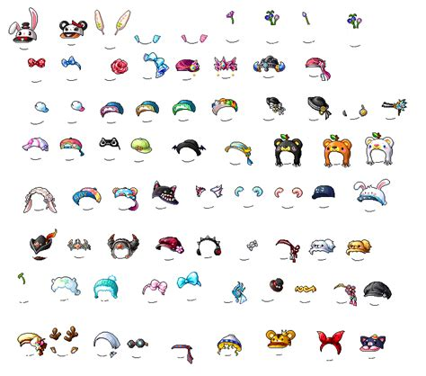 list of maplestory faces used in animations maplestory face accessory maplestory hat pack by xxyun on