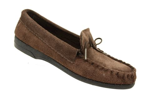 mens leather moccasins slippers mens genuine leather suede moccasin moccasins slippers ebay
