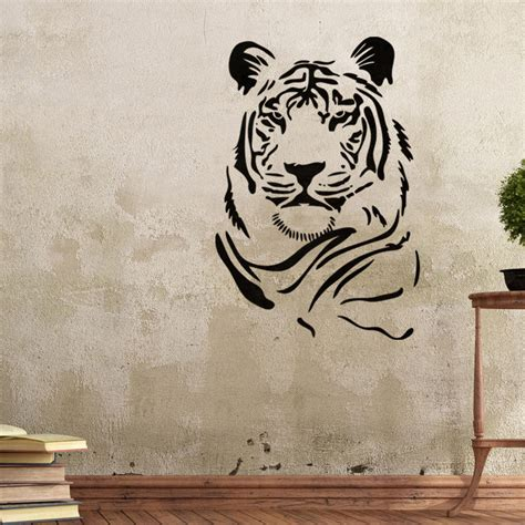 Graffiti Wall Template wall stencils tiger stencil template for graffiti better than wallpaper decals ebay