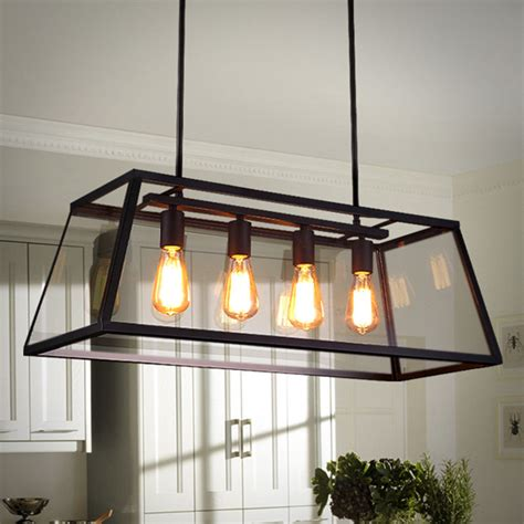 Large Chandelier Lighting Bar Glass Pendant Light Kitchen Ebay Ceiling Lights
