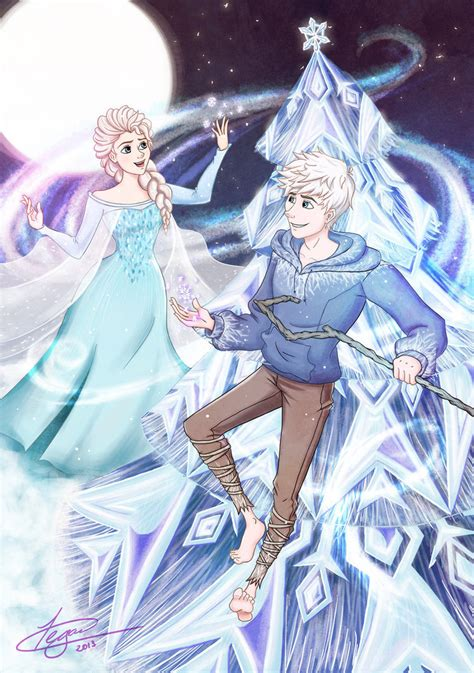 film elsa dan jack a merry frozen christmas by crimson firelight on deviantart
