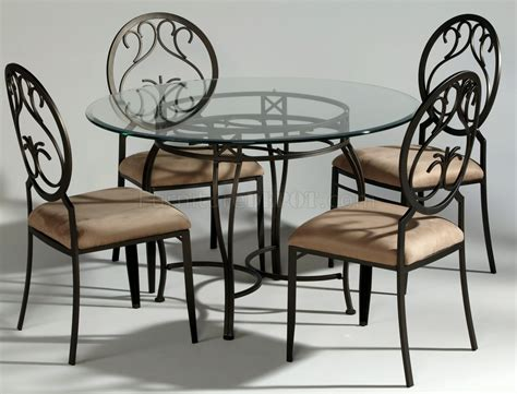 chagne metal modern dining table w optional chairs