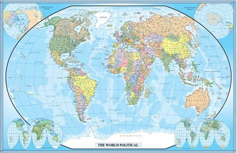 map world poster large world map poster wall print decoration 24x36