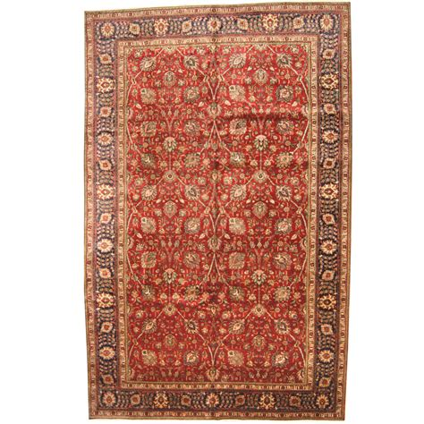 10 X 15 Wool Rug by Knotted 1960s Semi Antique Tabriz Wool Rug