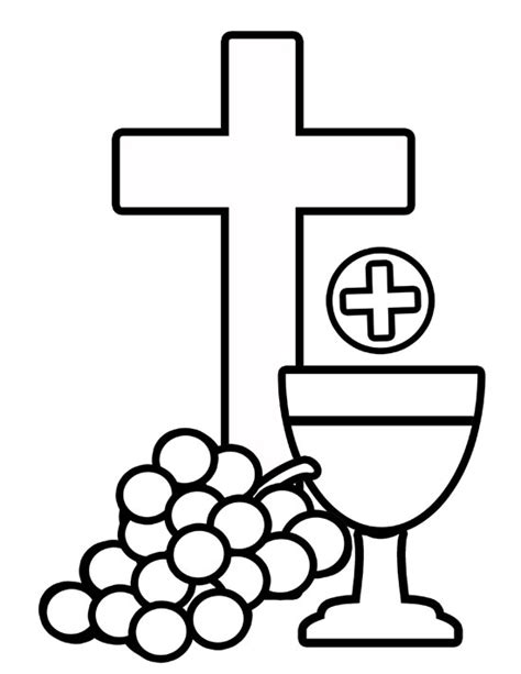 catholic coloring pages eucharist holy communion coloring pages clipart best