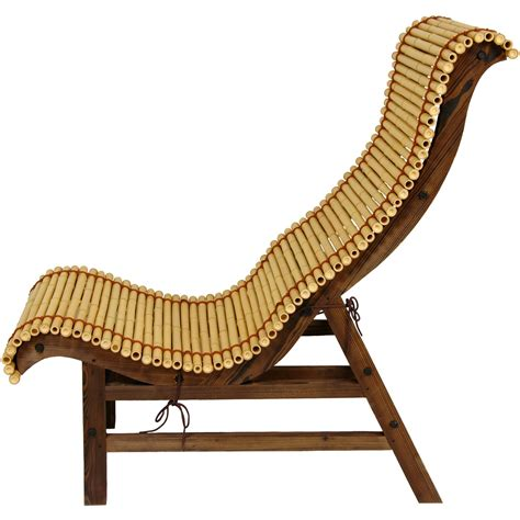 bamboo lounge chairs furniture curved japanese bamboo lounge chair ebay
