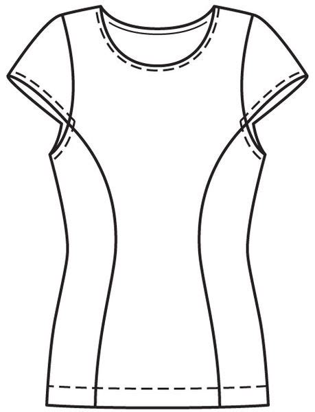 shirt pattern drawing personal sewing project t shirt 113 burda 06 2013