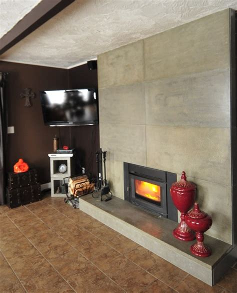 Refacing Brick Fireplace With Tile by Refacing An Existing Fireplace Surround With Modern