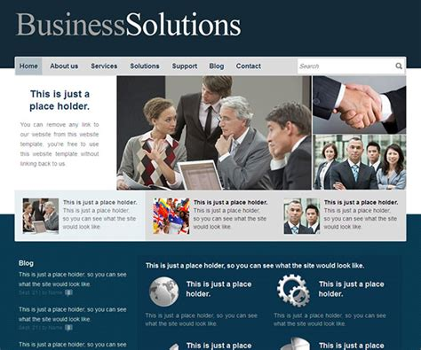 62 Free Business Html Website Templates Templatemag Business Website Templates