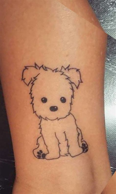 cute dog tattoos 30 small simple ideas for animal
