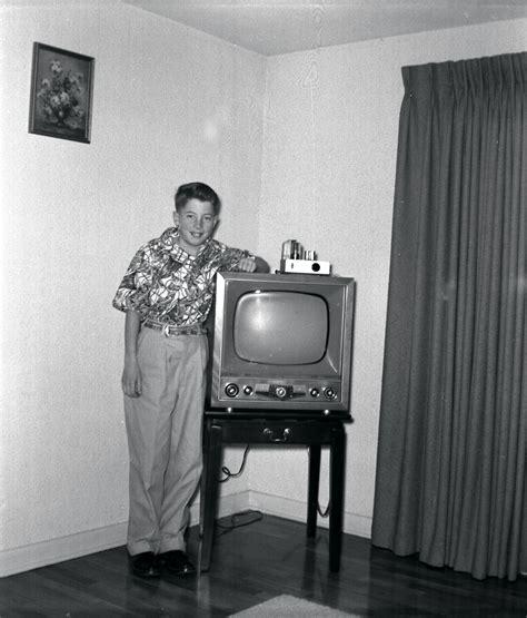 Or Tv File Early 1950s Television Set Eugene Oregon Jpg