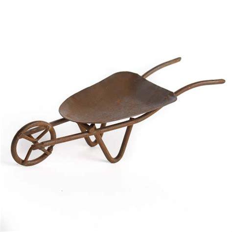 miniature tin wheelbarrow decorative accents