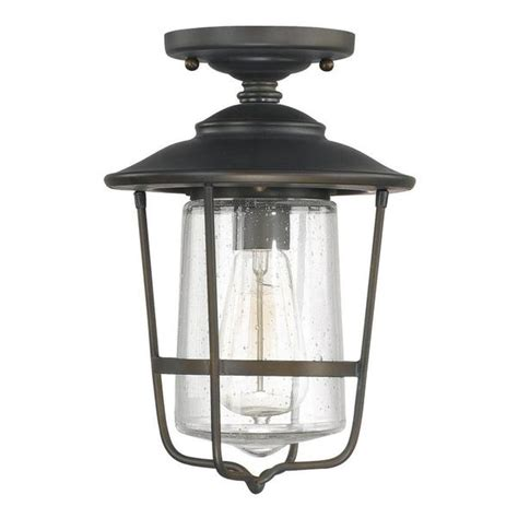 creekside 1 light outdoor ceiling flush mount in