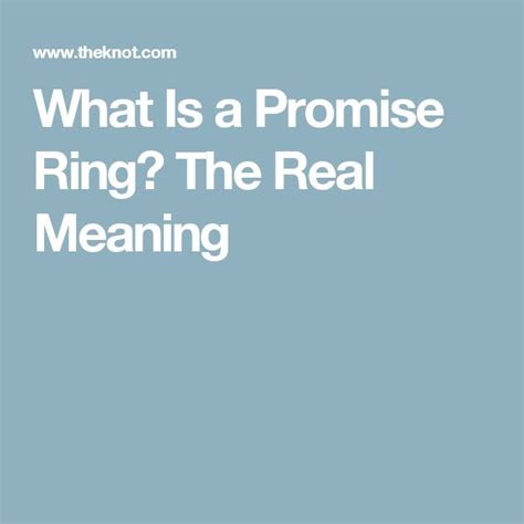 What Is A Promise Ring The Real Meaning The Knot | best 20 knot ring meaning ideas on pinterest knot