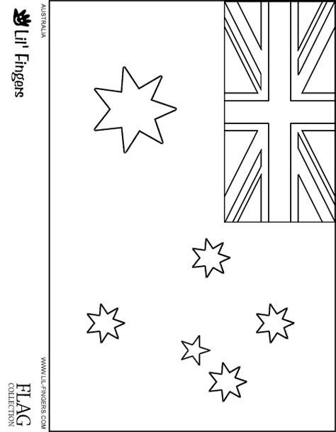 Australian Flag Coloring Pages Australia Flag Coloring Page