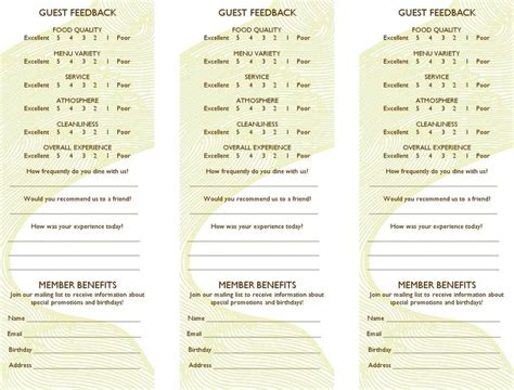 free comment card template word 24 best comment cards images on customer
