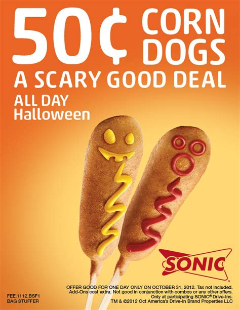 by shellie october 21 2012 this post may contain affiliate links sonic 50 corn dogs on halloween saving with shellie