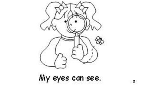 senses coloring pages preschool 5 senses emergent reader will put tracking dots under